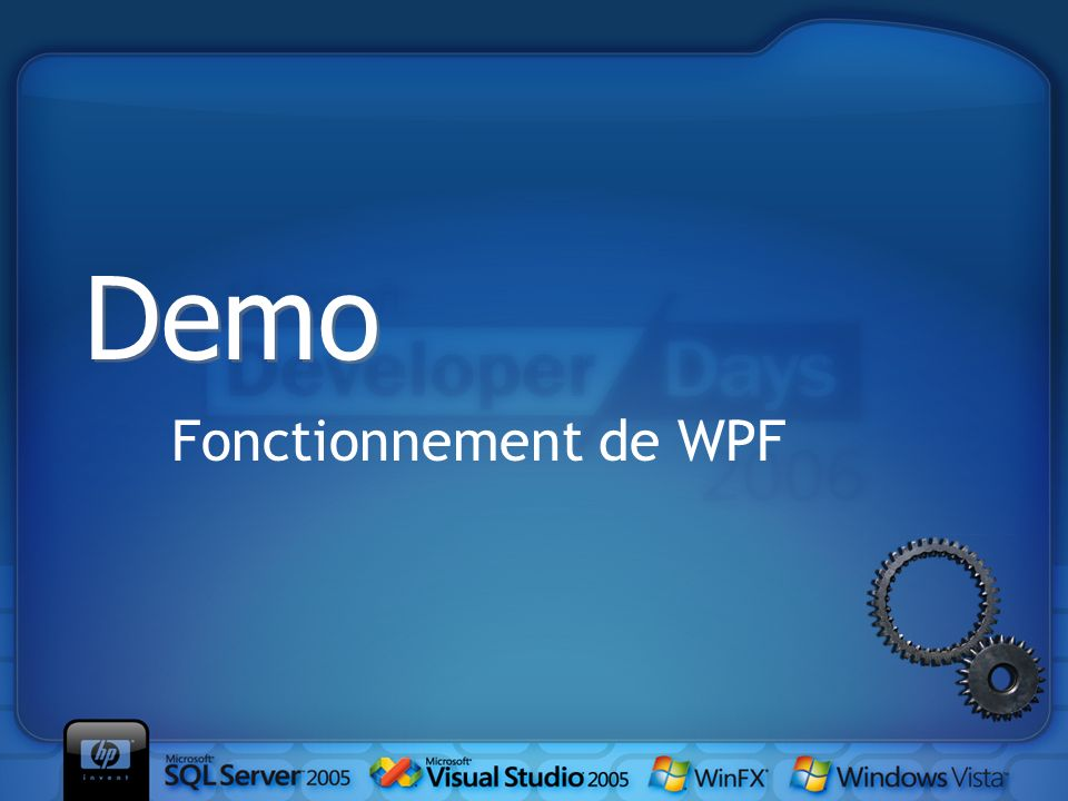 Fonctionnement de WPF Demo
