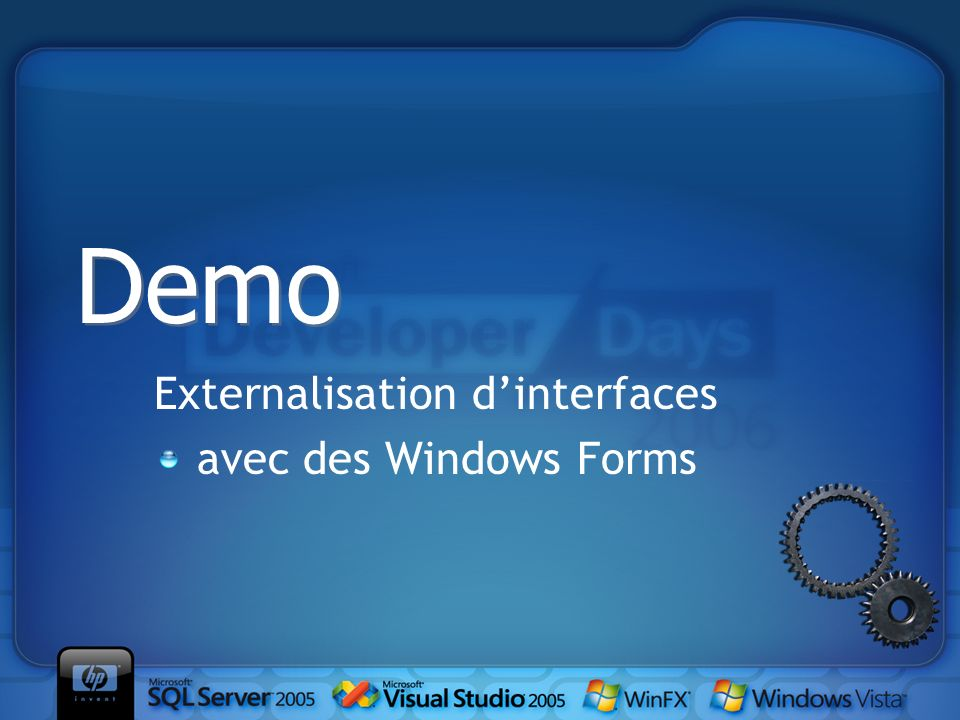 Externalisation dinterfaces avec des Windows Forms Demo