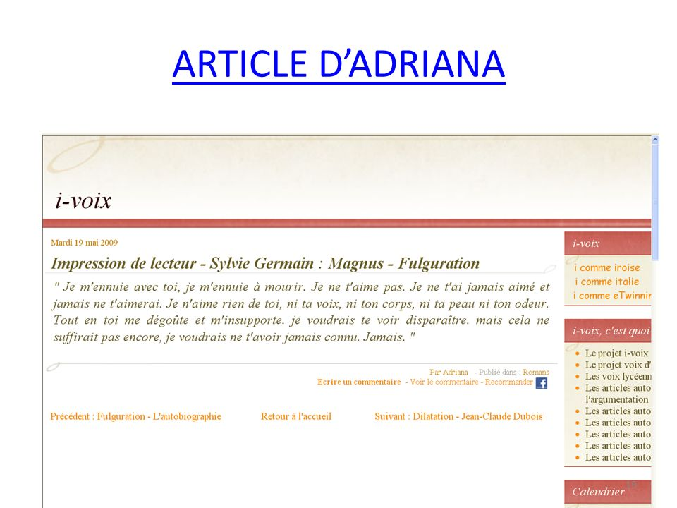 ARTICLE DADRIANA 19