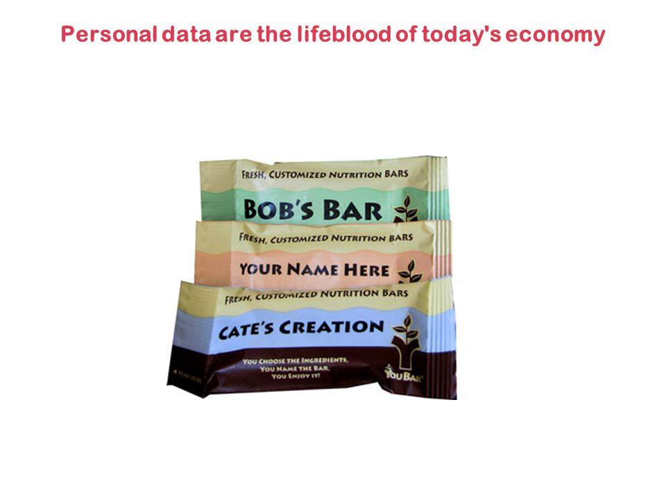 Personal data are the lifeblood of today s economy