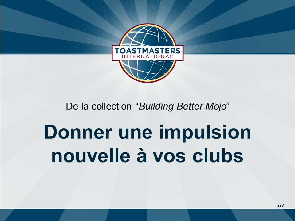 293 De la collection Building Better Mojo Donner une impulsion nouvelle à vos clubs
