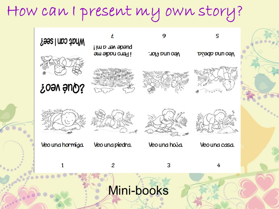 How can I present my own story Mini-books