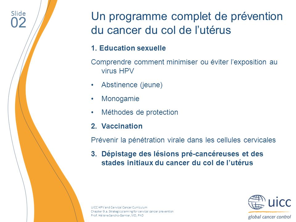 UICC HPV and Cervical Cancer Curriculum Chapter 9.a.