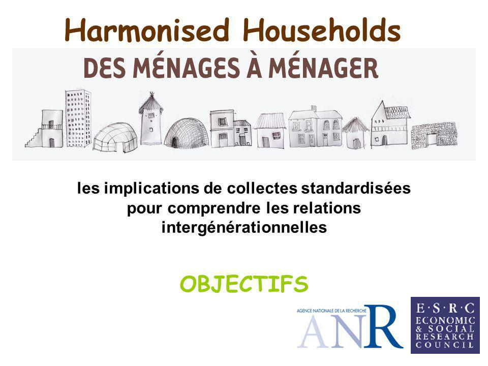 Harmonised Households les implications de collectes standardisées pour comprendre les relations intergénérationnelles OBJECTIFS