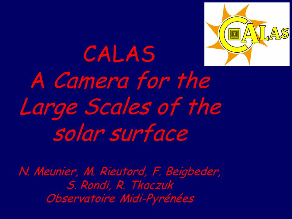 CALAS A Camera for the Large Scales of the solar surface N.