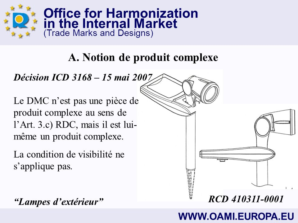 Office for Harmonization in the Internal Market (Trade Marks and Designs) WWW.OAMI.EUROPA.EU A.