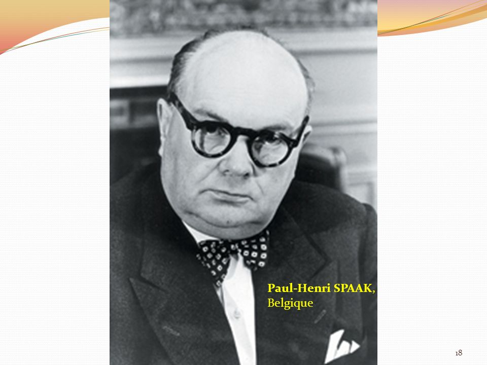Paul-Henri SPAAK, Belgique 18