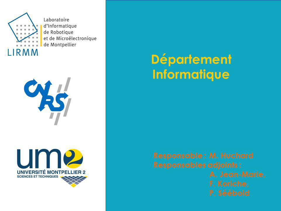 Département Informatique Responsable :M. Huchard Responsables adjoints : A.