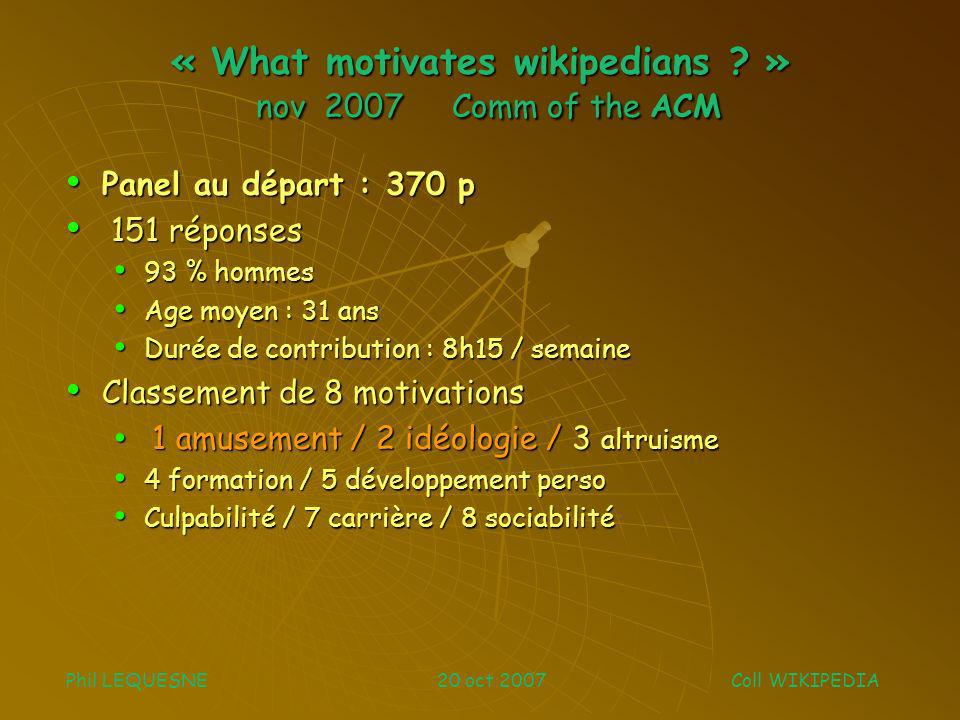 « What motivates wikipedians .