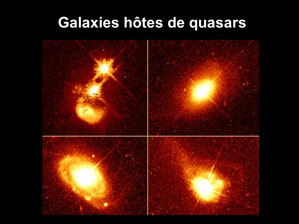 Galaxies hôtes de quasars