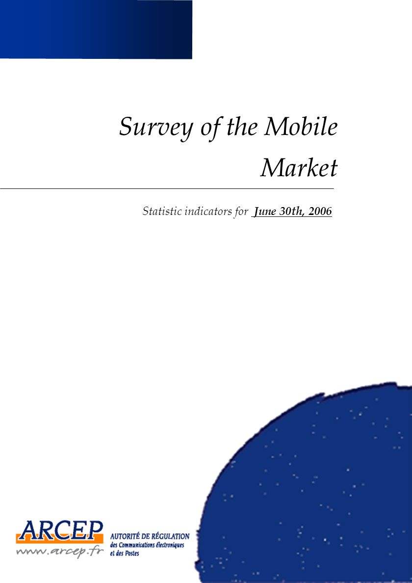 Survey of the Mobile Market Statistic indicators for June 30th, 2006