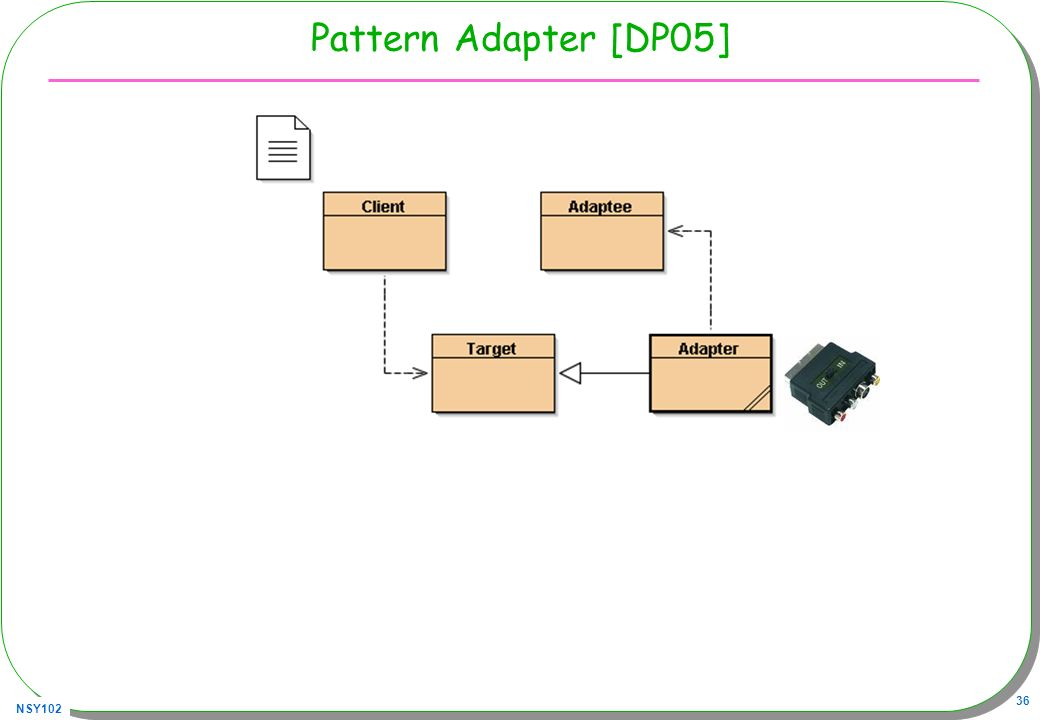 NSY102 36 Pattern Adapter [DP05]