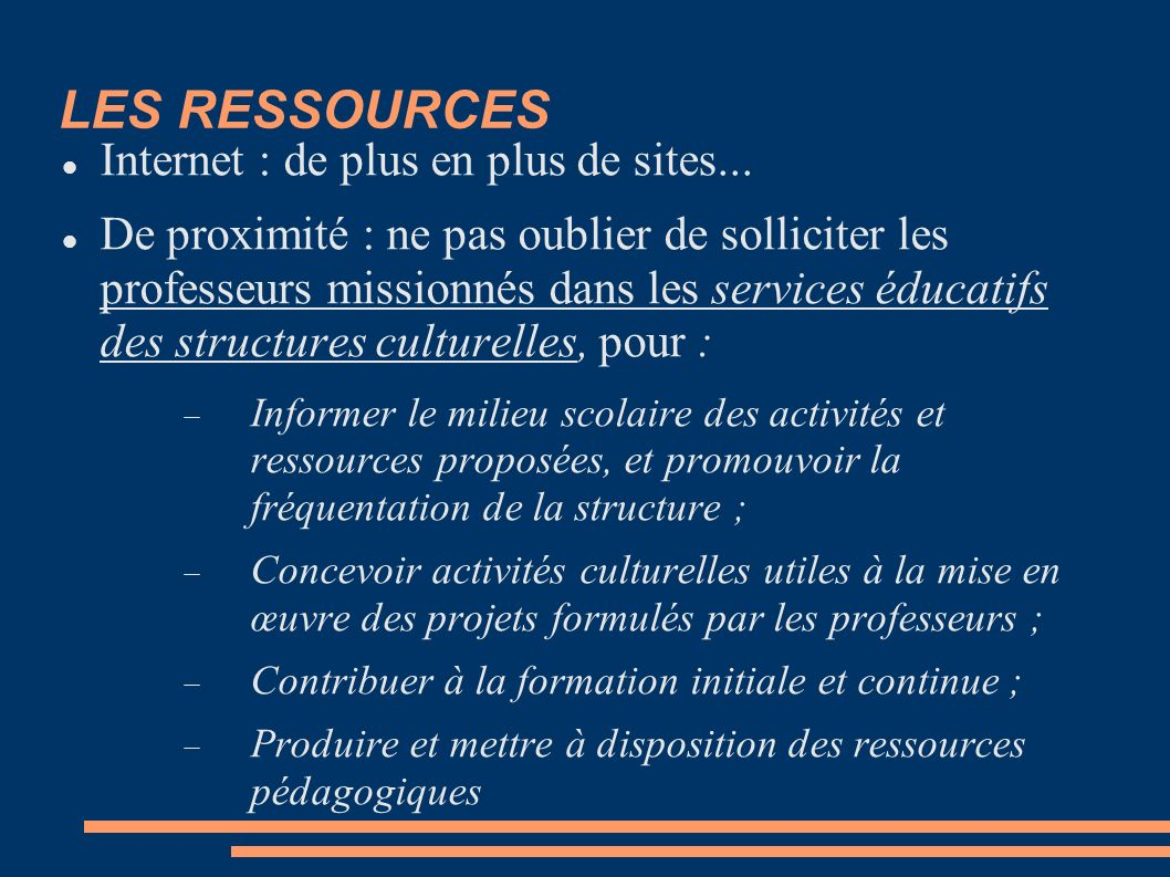 LES RESSOURCES Internet : de plus en plus de sites...