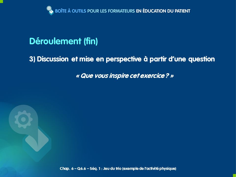 3) Discussion et mise en perspective à partir dune question « Que vous inspire cet exercice .