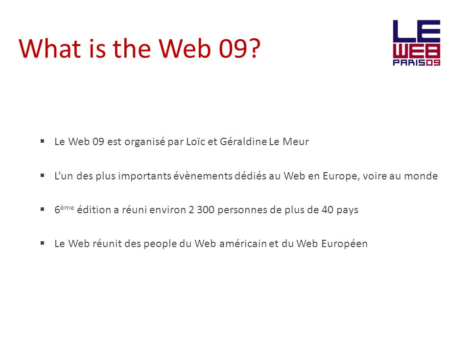 What is the Web 09.