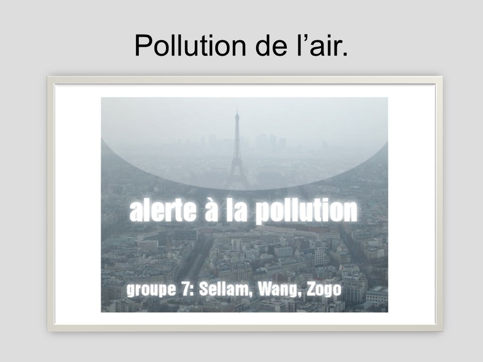 Pollution de lair.