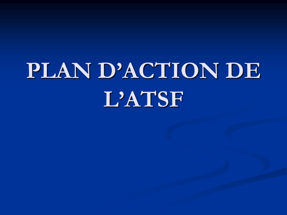 PLAN DACTION DE LATSF