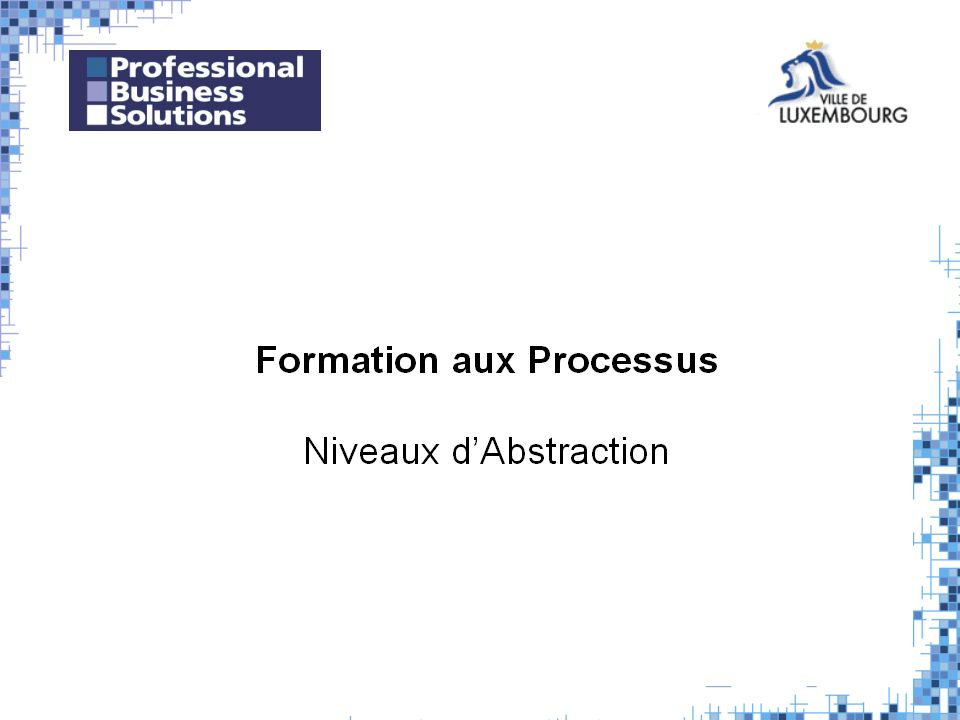 Formation Processus – 02 1
