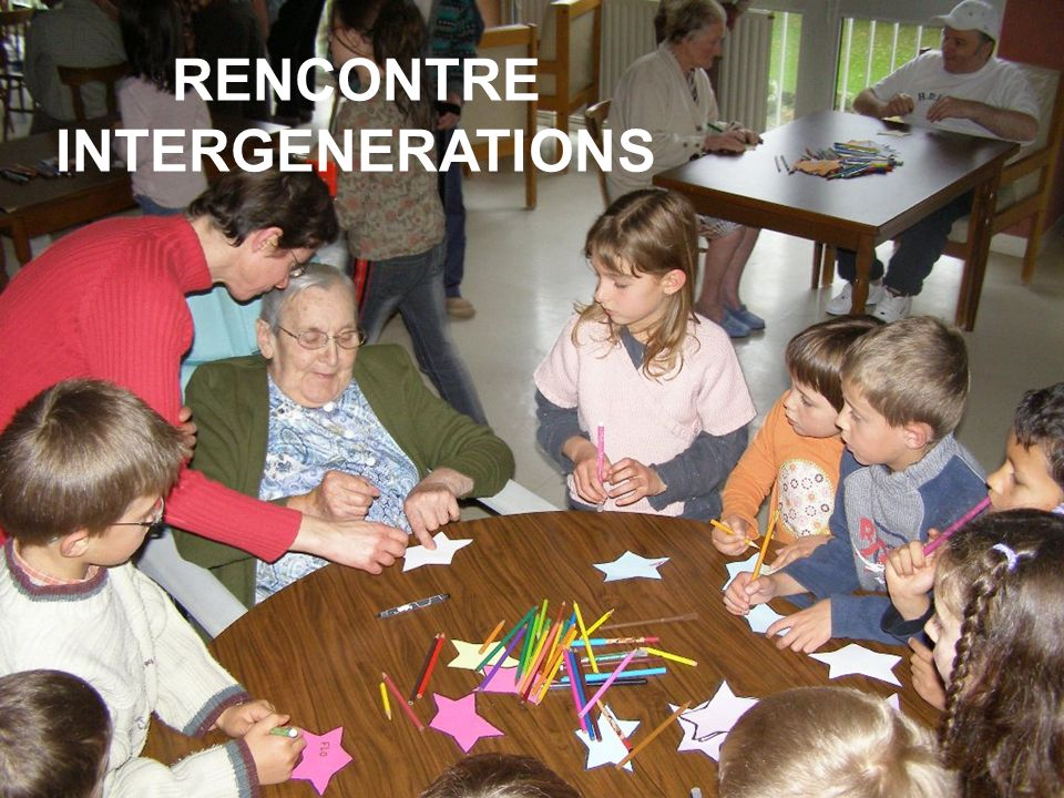 RENCONTRE INTERGENERATIONS