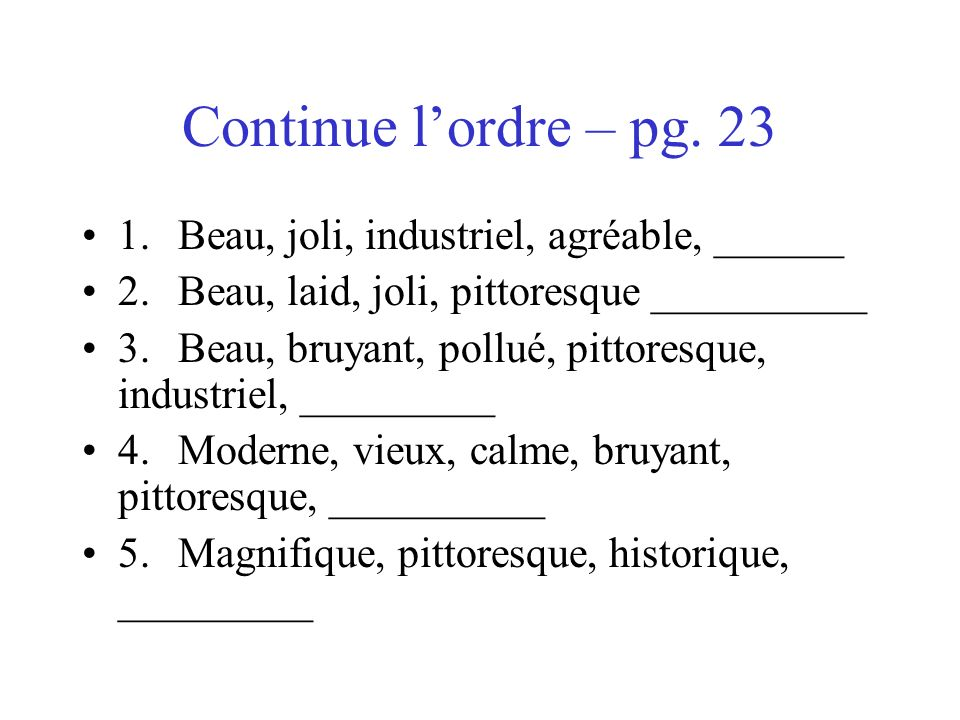 Continue lordre – pg.