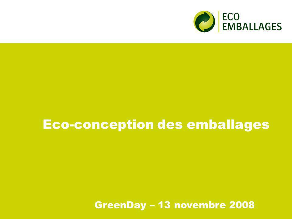 Eco-conception des emballages GreenDay – 13 novembre 2008