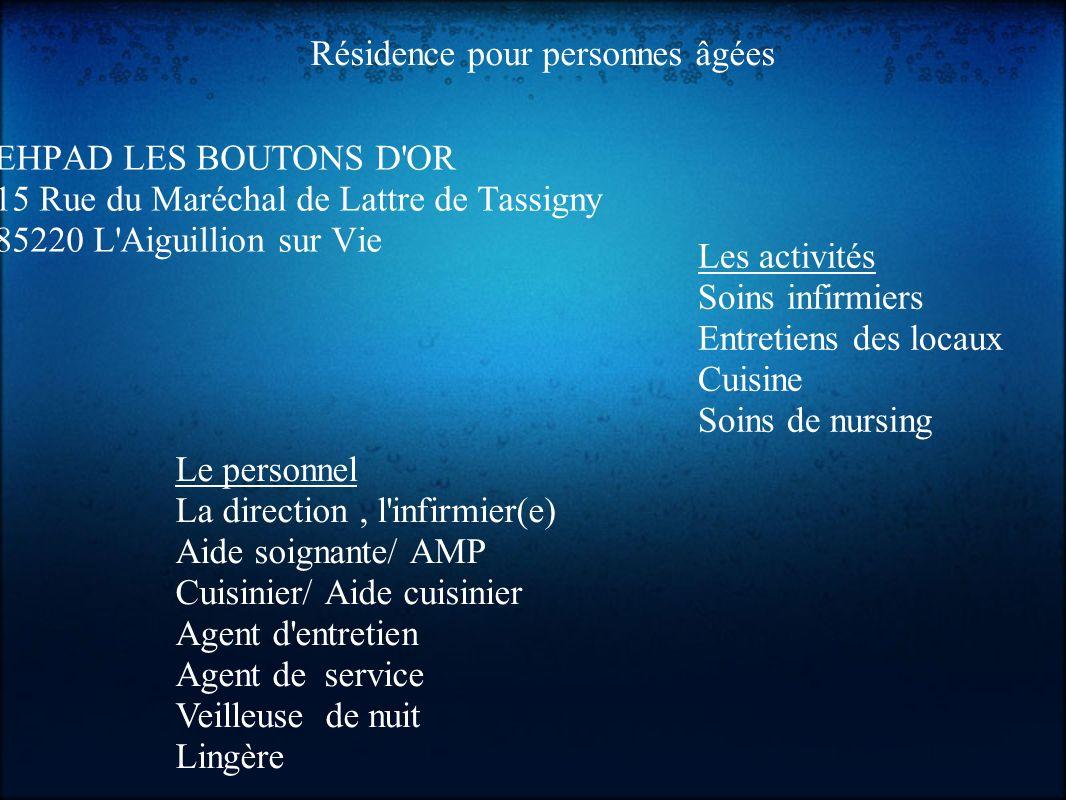 Stage De Decouverte En Maison De Retraite Alexis Gillet Classe 4c