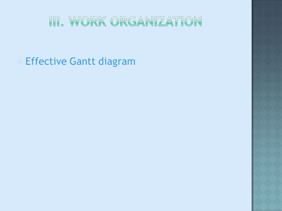 Effective Gantt diagram
