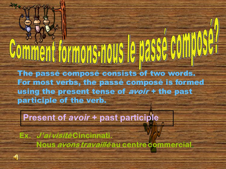Le Passé Composé is a verb form used to describe things that happened in the past.