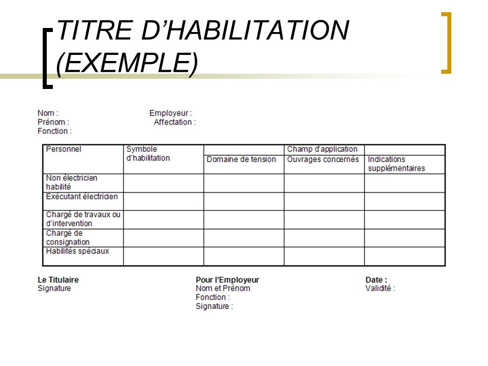TITRE DHABILITATION (EXEMPLE)