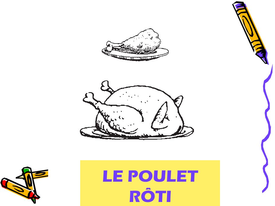 roast chicken LE POULET RÔTI