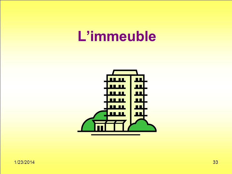 Limmeuble 1/23/201433