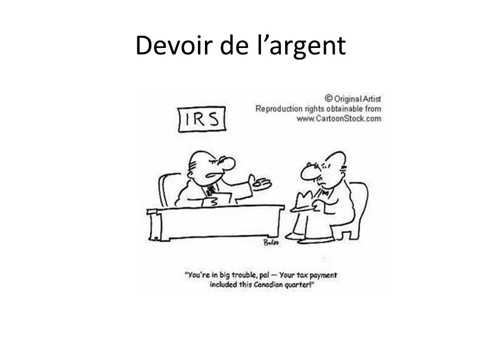 Devoir de largent