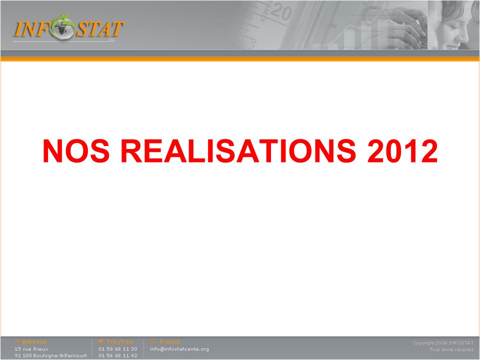 NOS REALISATIONS 2012