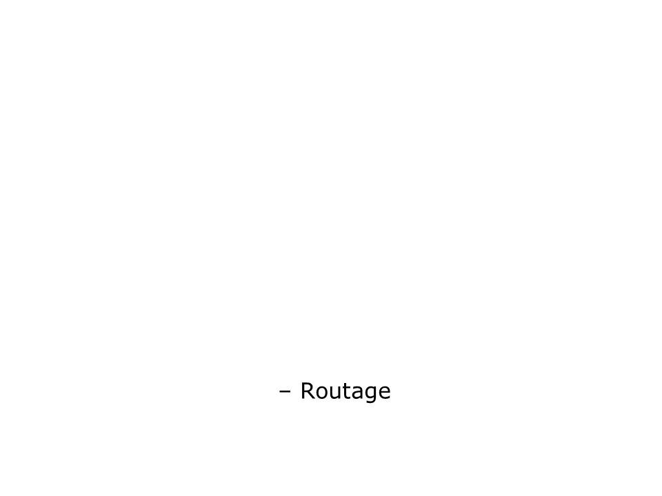 – Routage
