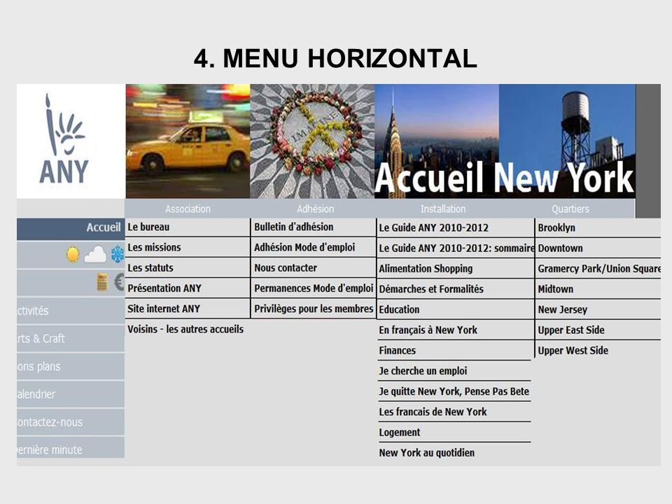 4. MENU HORIZONTAL