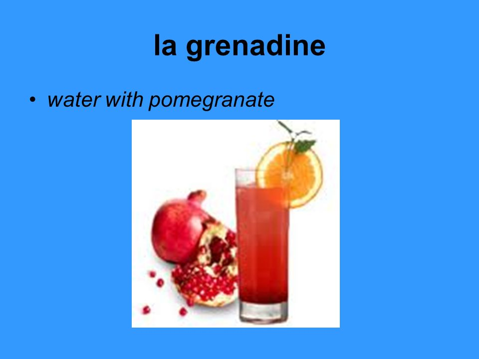 la grenadine water with pomegranate