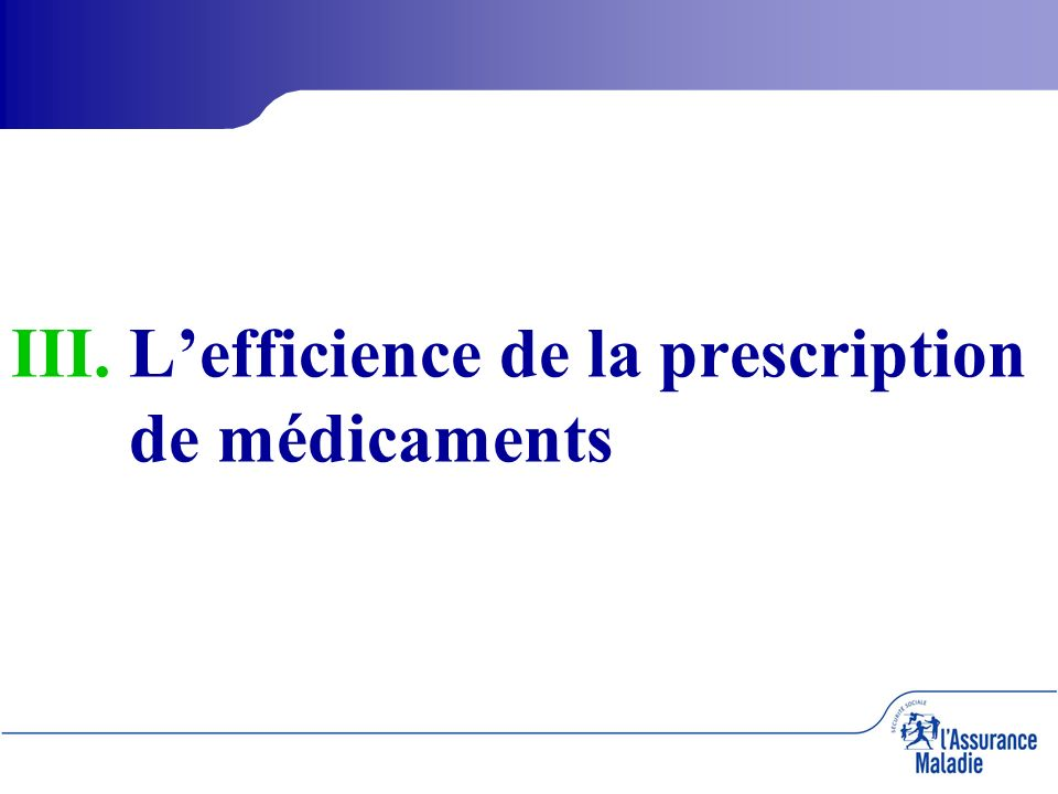 III. III.Lefficience de la prescription de médicaments