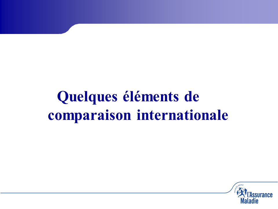Quelques éléments de comparaison internationale