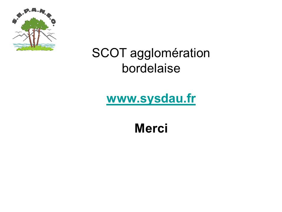 SCOT agglomération bordelaise   Merci