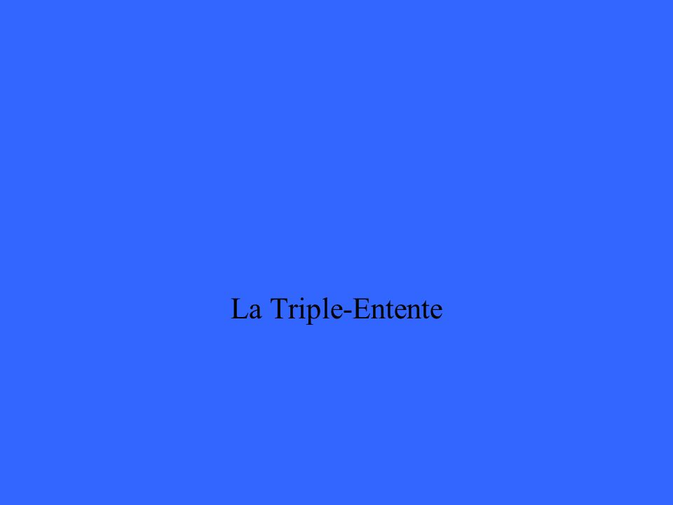 La Triple-Entente
