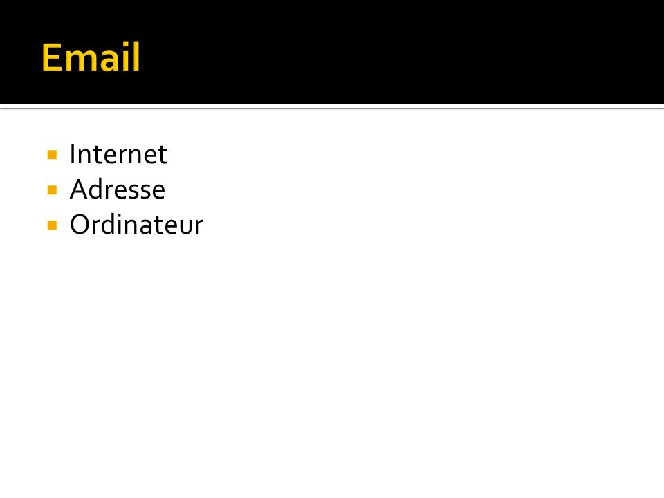 Internet Adresse Ordinateur