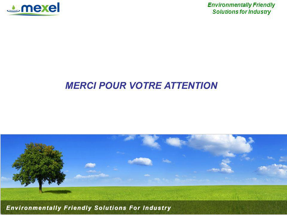 MERCI POUR VOTRE ATTENTION Environmentally Friendly Solutions for Industry