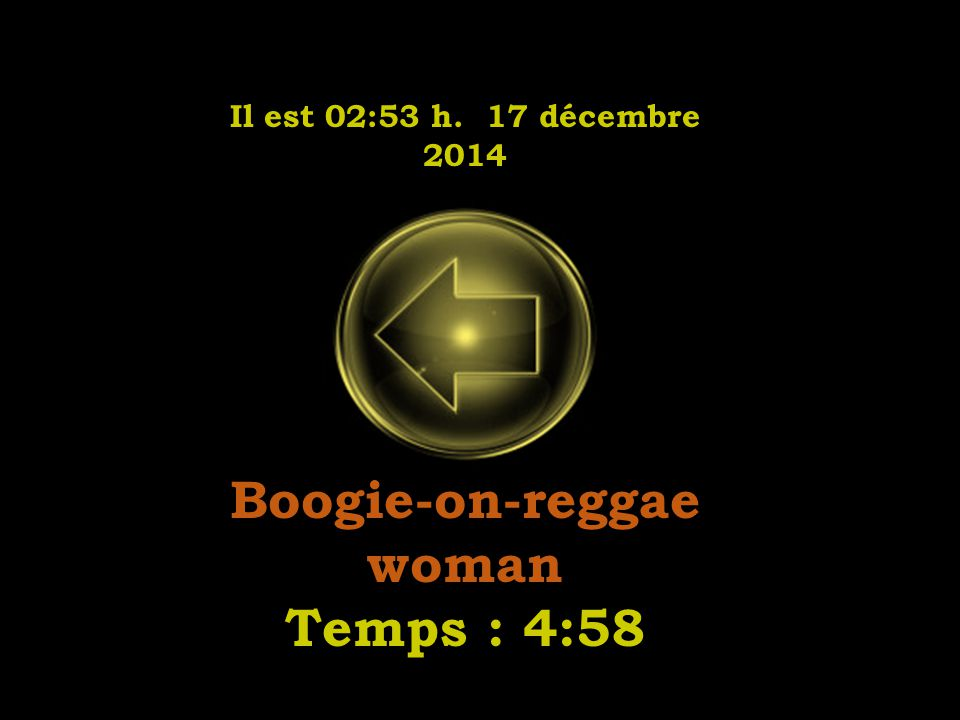 Il est 02:55 h. 17 décembre 2014 I just called to say i love you Temps : 4:24