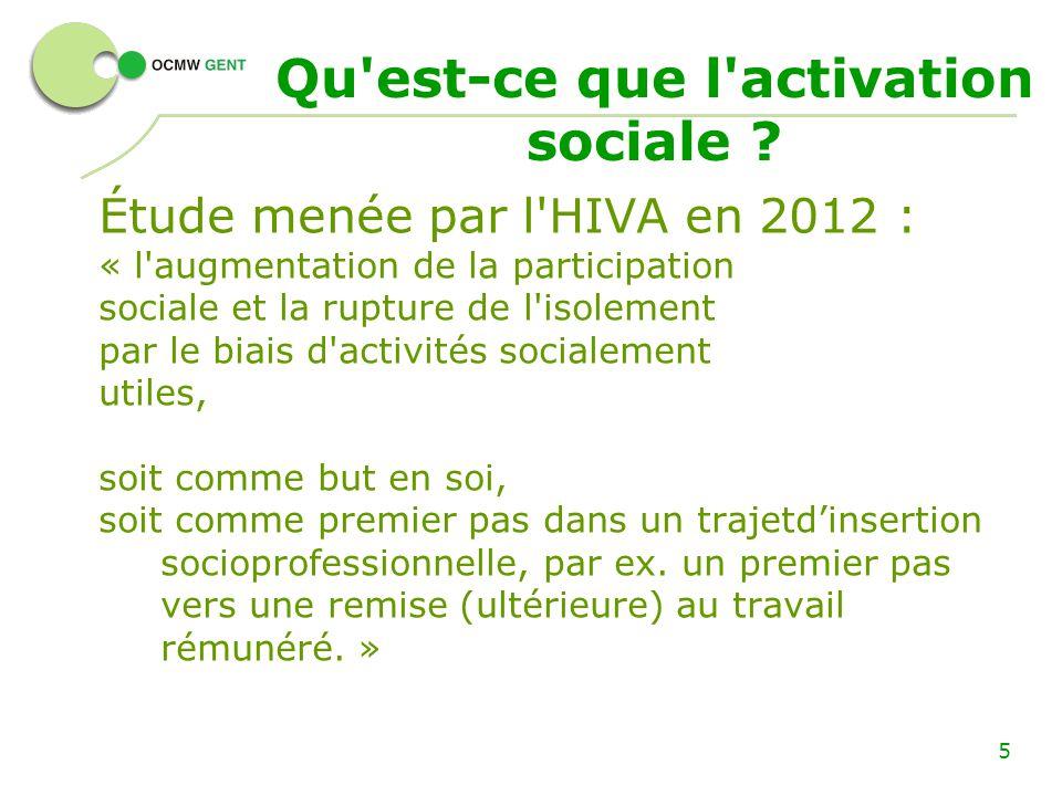Activation Sociale Au Cpas De Gand Qu Est Ce Que L Activation