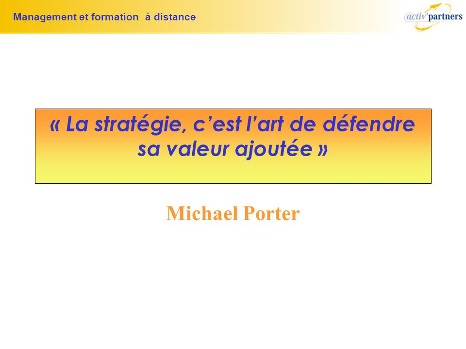 formation a distance valeur