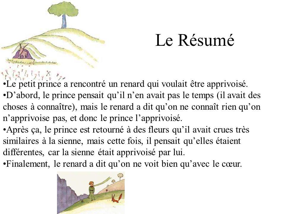 Le Petit Prince De St Exupery Resume