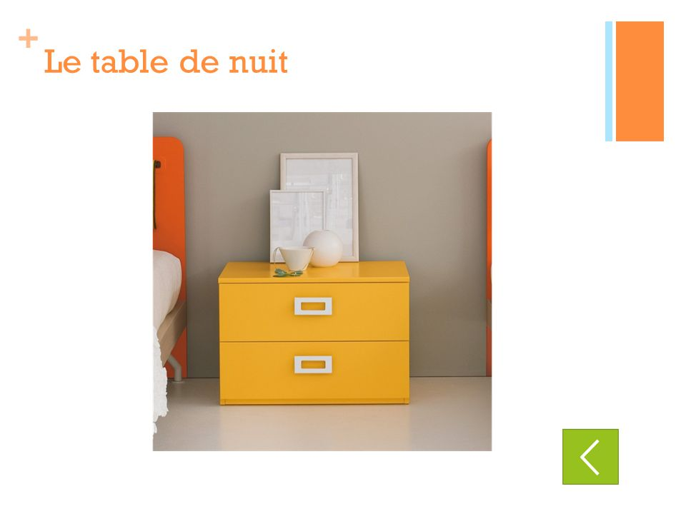 + Le table de nuit