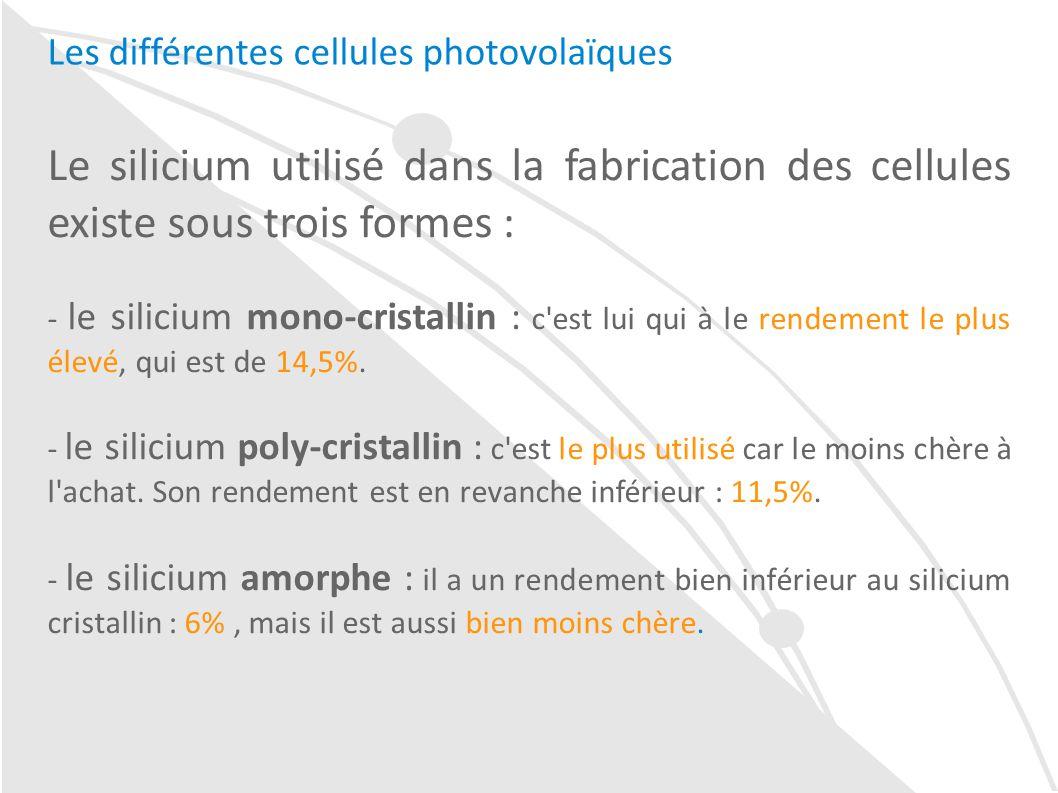 Cellule Photovoltaïque En Silicium Amorphe dedans le rendement d'une installation de panneaux solaires photovoltaïques