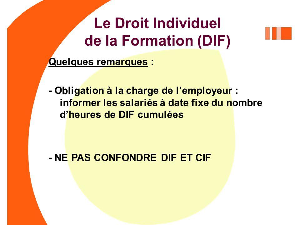 Le Droit Individuel De La Formation Dif Acquis Dans L Entreprise