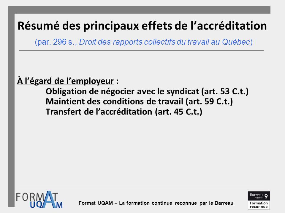 code du travail quebec article 47.2